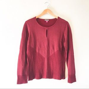Vince Camuto Ribbed Keyhole Top